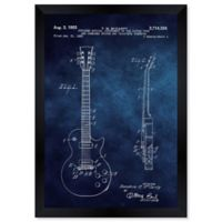 Oliver Gal 1955 Gibson Les Paul Guitar 14-Inch x 12-Inch Framed Wall Art