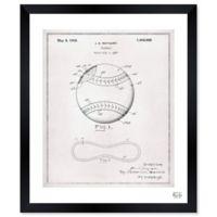 Oliver Gal 1928 Baseball 14-Inch x 12-Inch Framed Wall Art
