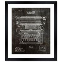 Oliver Gal 1899 Type Writing Machine 14-Inch x 12-Inch Framed Wall Art