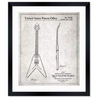 Oliver Gal™ Gibson Flying V 1958 Blueprint 12-Inch x 14-Inch Framed Wall Art