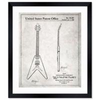 Oliver Gal™ Gibson Flying V 1958 Blueprint 17-Inch x 20-Inch Framed Wall Art