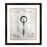 Oliver Gal™ 1880 Edison Electric Lamp 15-Inch x 18-Inch Framed Print Wall Art