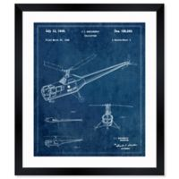 Oliver Gal™ Helicopter 1946 Blueprint Paper 10-Inch x 12-Inch Framed Wall Art in Teal