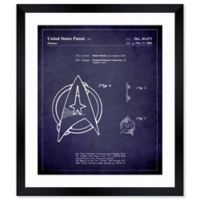 Oliver Gal™ Starfleet Insignia 1981 10-Inch x 12-Inch Framed Paper Wall Art in White