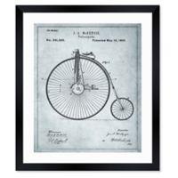 Oliver Gal™ McKenzie Velocipede 1881 Blueprint 26-Inch x 32-Inch Framed Wall Art