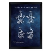 Oliver Gal™ Lego Toy Figure #2 1979 Blueprint Size 10-Inch x 12-Inch Framed Wall Art