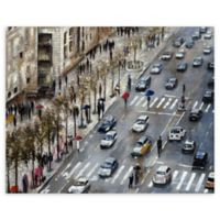 Champs Elysees 22-Inch x 28-Inch Canvas Wall Art