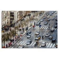 Champs Elysees 24-Inch x 36-Inch Canvas Wall Art