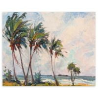 Six Palms 22-Inch x 28-Inch Wrapped Canvas Wall Art