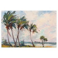 Six Palms 24-Inch x 36-Inch Wrapped Canvas Wall Art
