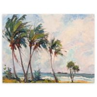 Six Palms 30-Inch x 40-Inch Wrapped Canvas Wall Art