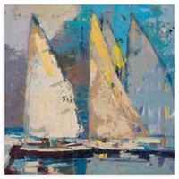 """Breeze Sail & Sky 35"""" Square Wrapped Canvas Wall Art"""