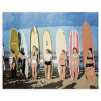 "Longboard Classic Soft 16"" x 20"" Wrapped Canvas Wall Art"