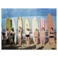 "Longboard Classic Soft 18"" x 24"" Wrapped Canvas Wall Art"