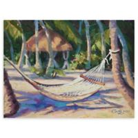 """Hang Awhile Bright 18"""" x 24"""" Wrapped Canvas Wall Art"""