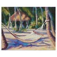 "Hang Awhile Bright 22"" x 28"" Wrapped Canvas Wall Art"