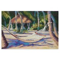 """Hang Awhile Bright 24"""" x 36"""" Wrapped Canvas Wall Art"""