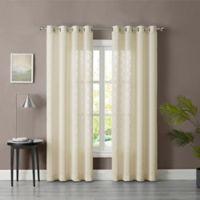Tiburon Sheer 63-Inch Grommet Window Curtain Panel in Ivory