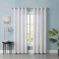 Tiburon Sheer 84-Inch Grommet Window Curtain Panel in White