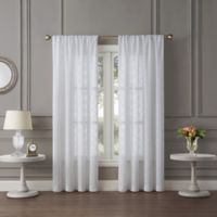 Tiburon Sheer 63-Inch Rod Pocket Window Curtain Panel in White