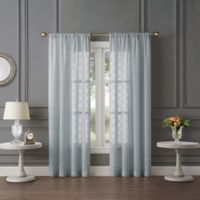 Tiburon Sheer 63-Inch Rod Pocket Window Curtain Panel in Silver Ice
