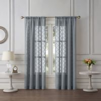 Tiburon Sheer 63-Inch Rod Pocket Window Curtain Panel in Grey