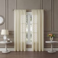 Tiburon Sheer 84-Inch Rod Pocket Window Curtain Panel in Ivory