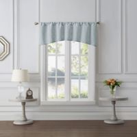 Tiburon Sheer Window Valance in Silver Ice