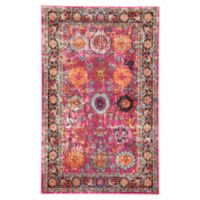 Jaipur Living Medallion 4' x 5'8 Area Rug in Pink