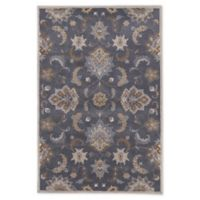 Jaipur Living Abers Floral 9' x 12' Handcrafted Area Rug in Dark Blue