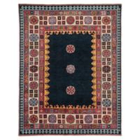 Jaipur Living Border 6' x 9' Handcrafted Area Rug in Dark Blue