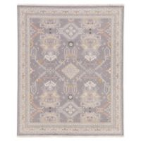 Jaipur Wolter Medallion 9' x 12' Hand-Knotted Area Rug in Grey