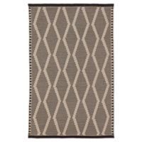 Jaipur Nikki Chu Trellis 2' x 3' Flat-Weave Indoor/Outdoor Accent Rug in Beige