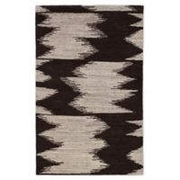 Jaipur Ozark Geometric 2' x 3' Accent Rug in Dark Brown