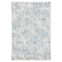Jaipur Floral Clara 7'6 x 9'6 Area Rug in Silver