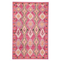 Jaipur Geometric 2' x 3' Accent Rug in Pink