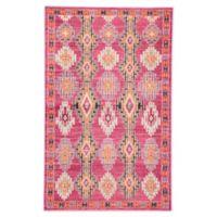 Jaipur Geometric 5'3 x 7'6 Area Rug in Pink