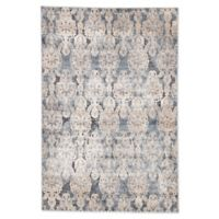 Jaipur Roz Damask 2' x 3' Accent Rug in Blue