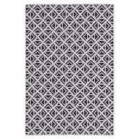 Jaipur Geometric Indoor/Outdoor 2' x 3'7 Accent Rug in Light Grey