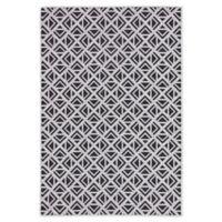 Jaipur Geometric Indoor/Outdoor 7'11 x 10' Area Rug in Light Grey