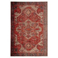 Jaipur Medallion Indoor/Outdoor 7'6 x 9'6 Area Rug in Red