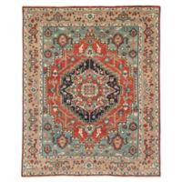 Jaipur Medallion Indoor/Outdoor 7'7 x 9'9 Area Rug in Red