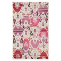Jaipur Living Ikat 2' x 3' Accent Rug in Ivory/Pink