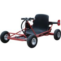 MotoTec 24-Volt Solar Electric Go Kart in Red