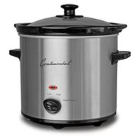 Continental Electric 2 qt. Stainless Steel Slow Cooker with Glass Lid