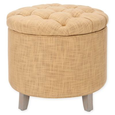 Safavieh Amelia Storage Ottoman in Gold - Buy Gold Ottoman From Bed Bath & Beyond