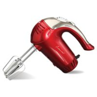 Continental Electric 5-Speed Turbo Hand Mixer in Red