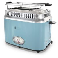 Rusell Hobbs 2-Slice Retro-Style Toaster in Blue/Stainless Steel