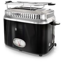 Rusell Hobbs 2-Slice Retro-Style Toaster in Black/Stainless Steel