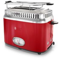 Rusell Hobbs 2-Slice Retro-Style Toaster in Red/Stainless Steel
